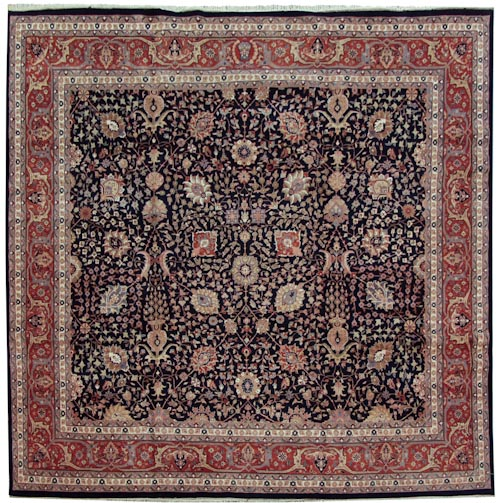 12×12 Tabriz Design Square Rug