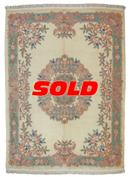 9×12 Aubusson Design Rug