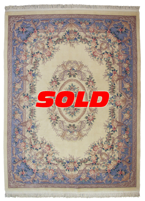 9×12 Aubusson Design Rug – SOLD