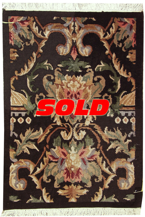 2x 3 Damask Design Rug – SOLD