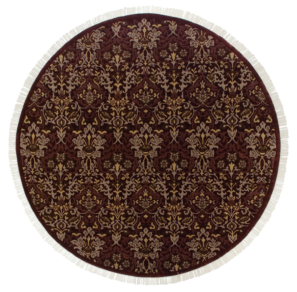9x 9 William Morris Design Round Rug