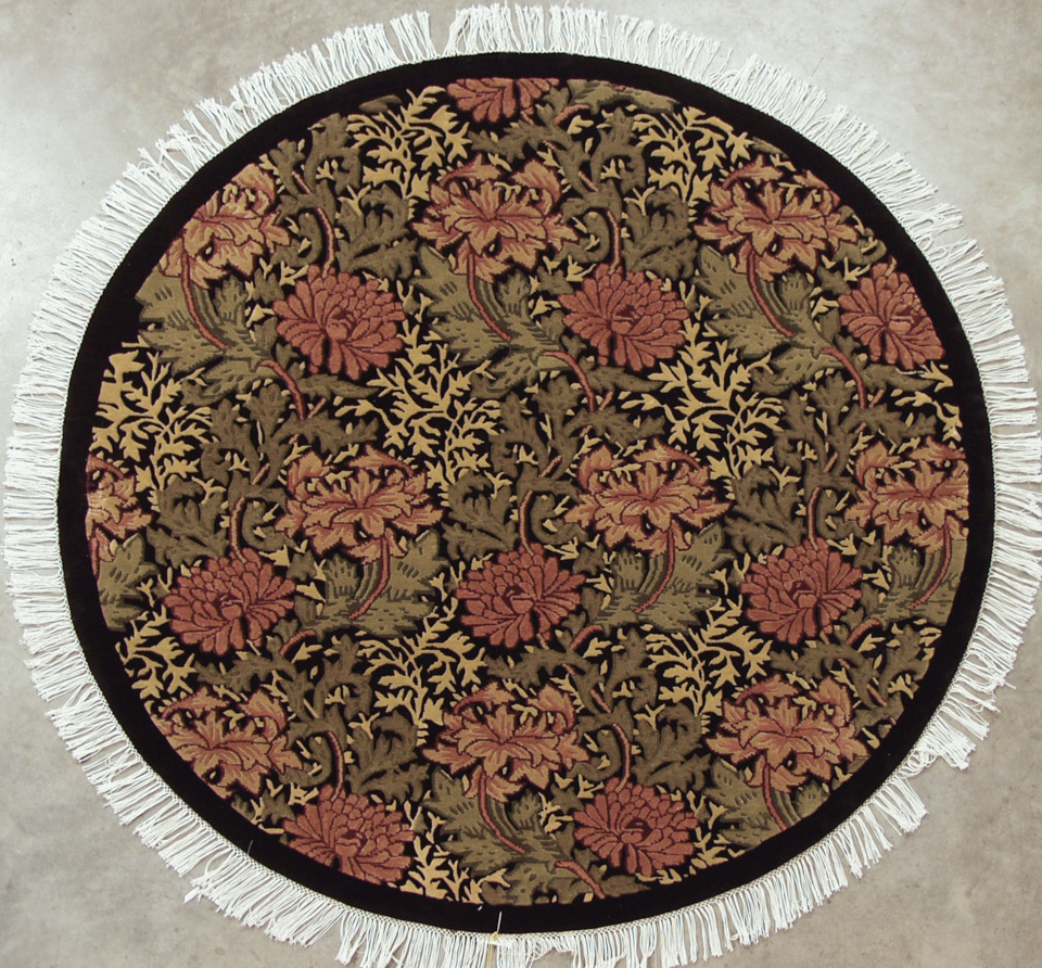 5x5 William Morris Design Round Rug
