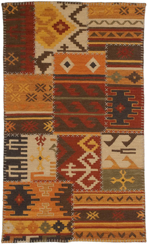 3x5 Patchwork Design Rug