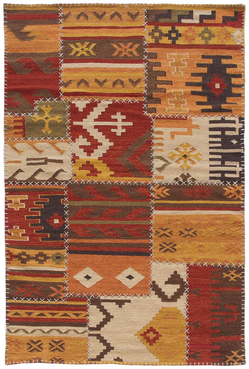 4x6 Patchwork Design Rug