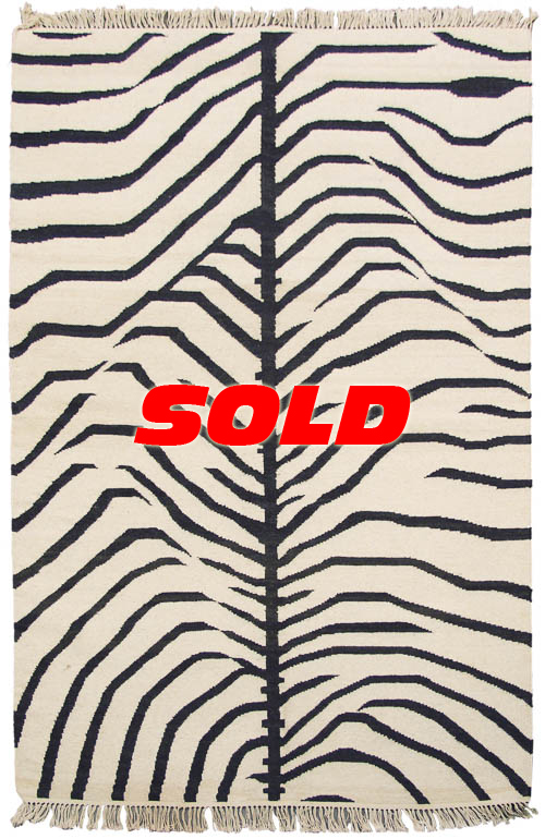 4x 6 Zebra Design Rug – SOLD