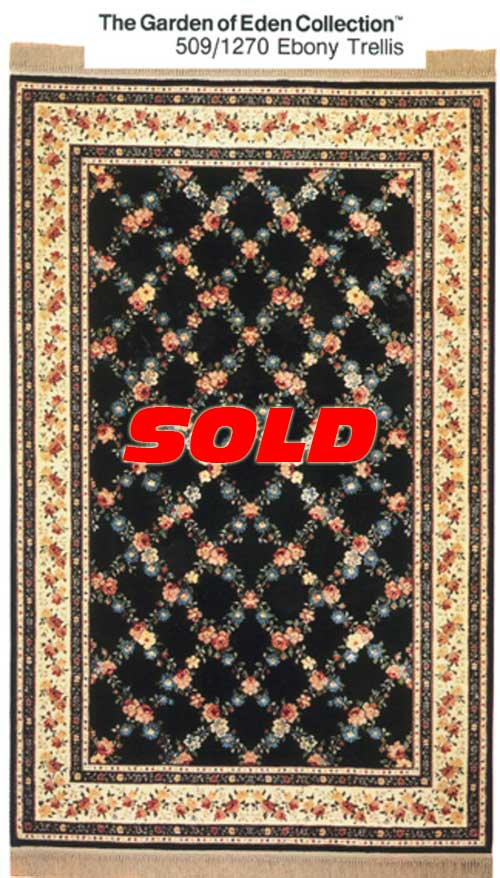 6x 9 Karastan Garden of Eden Rug – SOLD