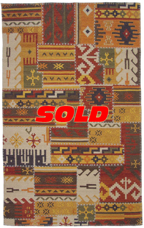 5x 8 Patchwork Design Rug