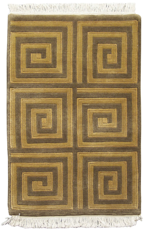 2x 3 Square Spiral Design Rug Rug Warehouse Outlet