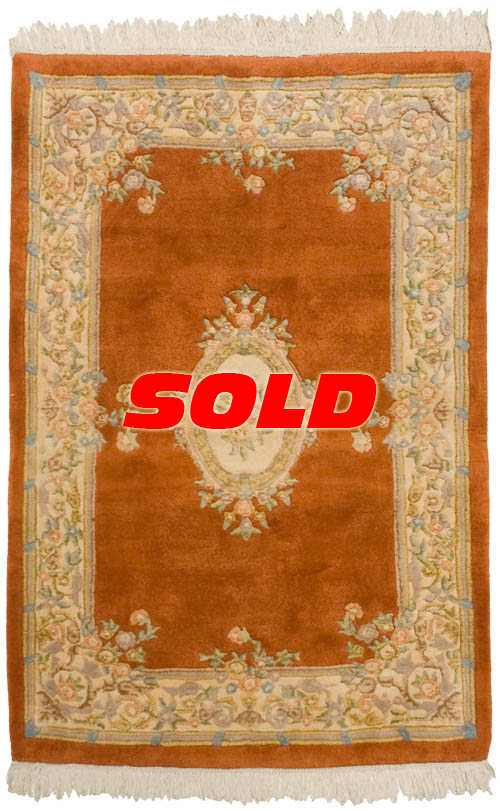 4x 6 Aubusson Design Rug – SOLD