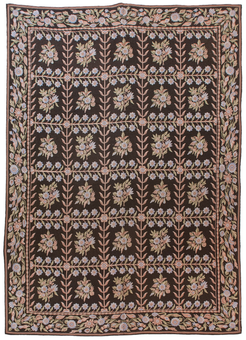10×14 Vintage Crown Kashmir Chain Stitch Rug