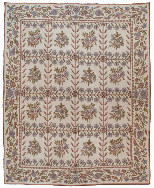 8×10 Vintage Crown Kashmir Chain Stitch Rug