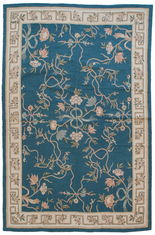 6x 9 Vintage Crown Kashmir Chain Stitch Rug