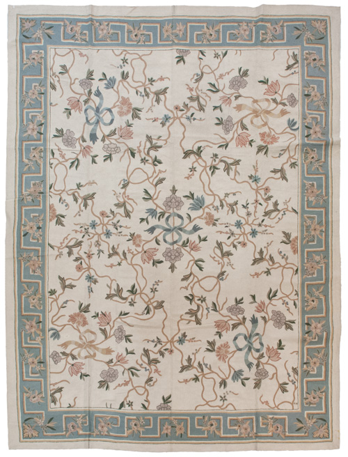 9×12 Vintage Crown Kashmir Chain Stitch Rug