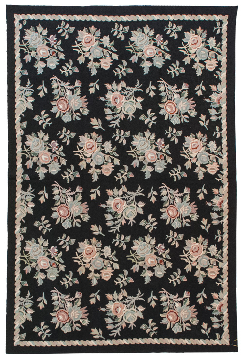 6x 9 Vintage Crown Kashmir Botidar Chain Stitch Rug