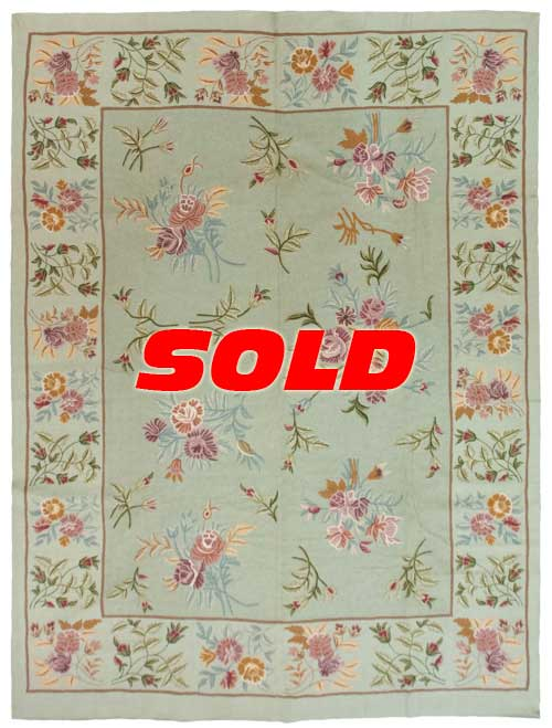 9×12 Vintage Chain Stitch Rug – SOLD