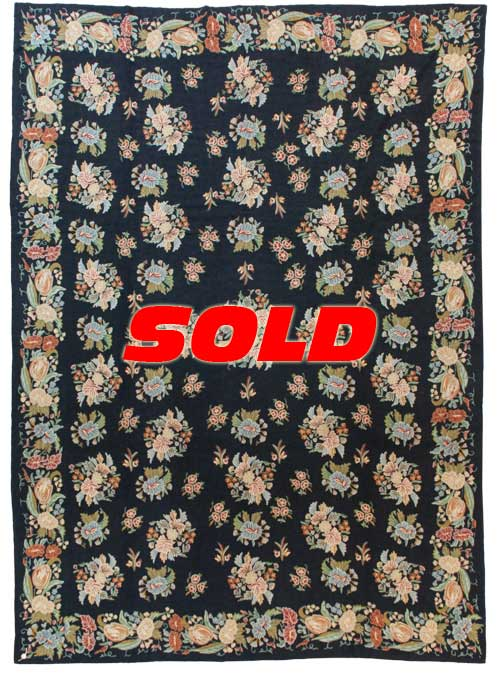 10×14 Vintage Chain Stitch Rug – SOLD