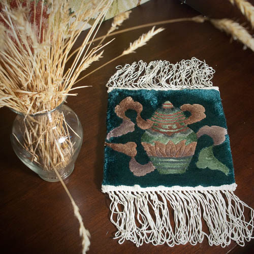 All-Silk Chinese Rug Mat – Ginger Jar