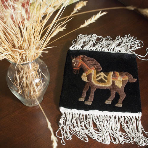 All Silk Chinese Rug Mat Horse Warehouse Outlet