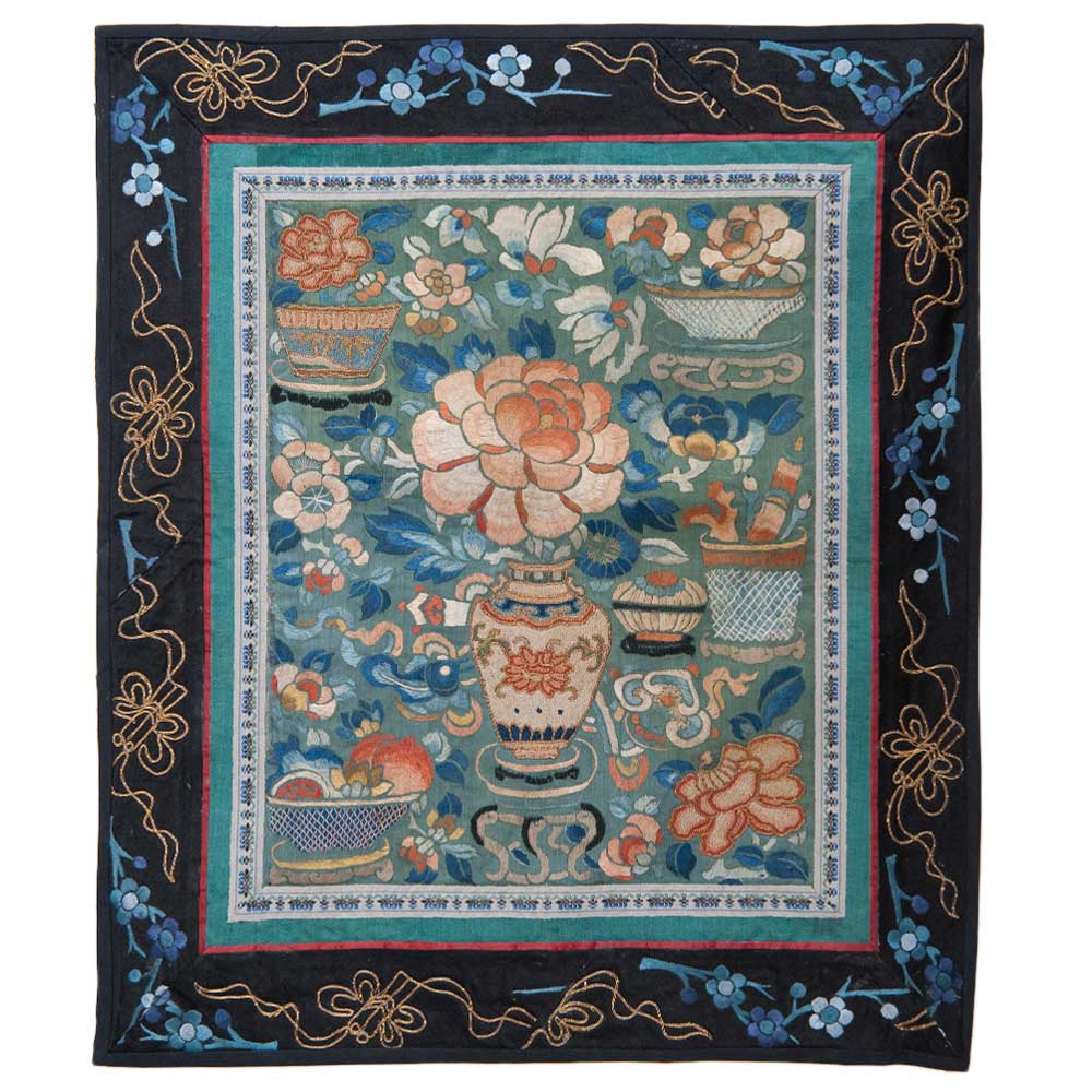Antique Chinese Silk Embroidery 0861