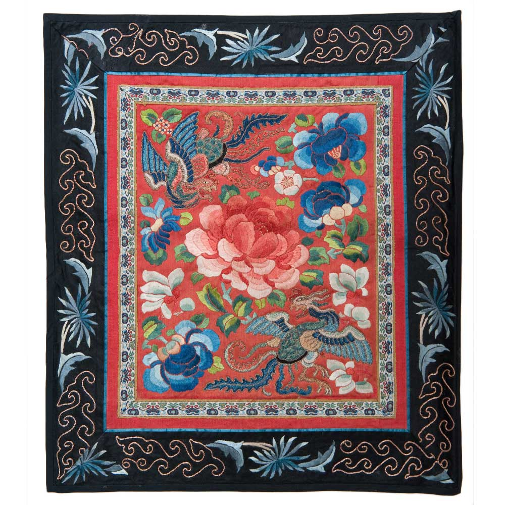 Antique Chinese Silk Embroidery 0880