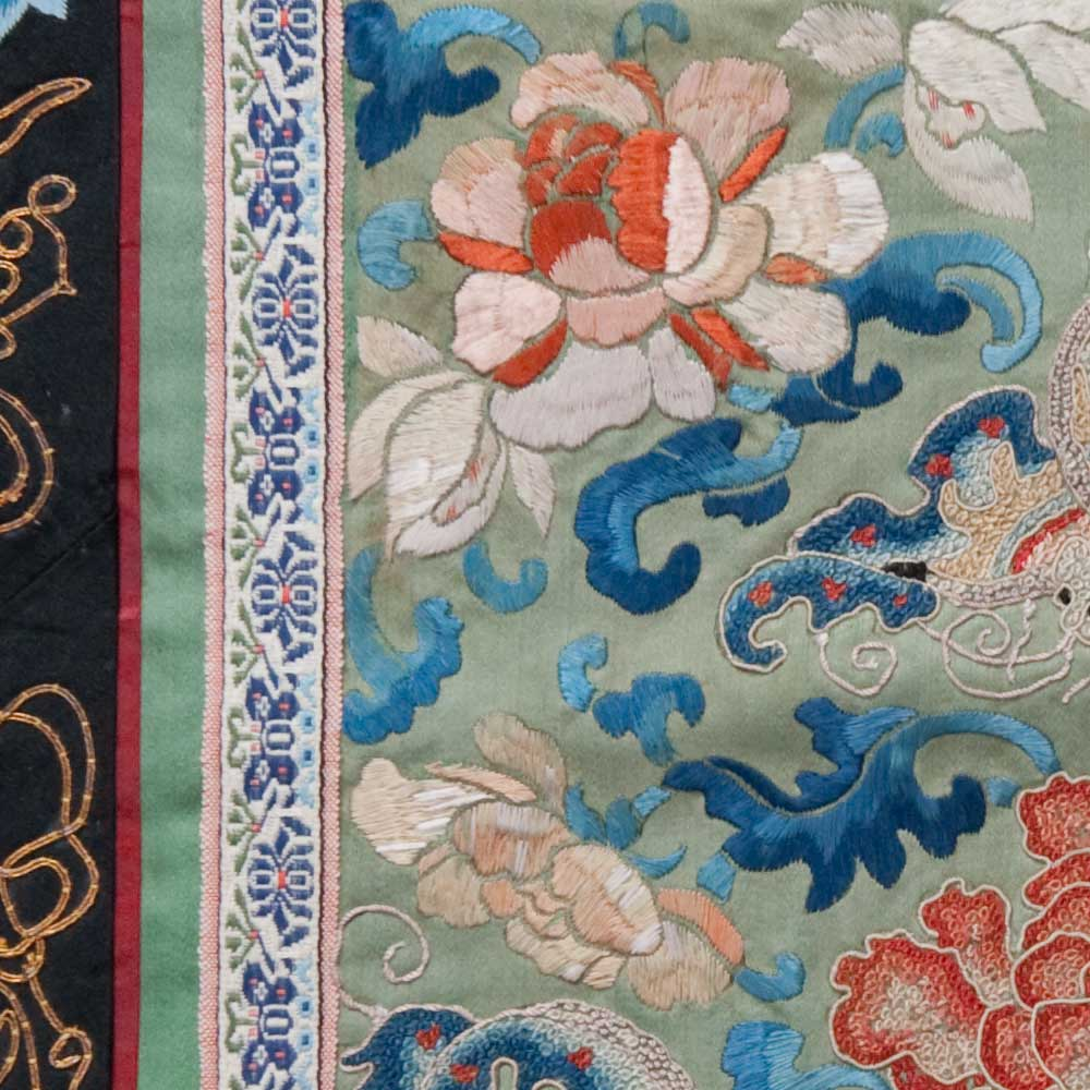 Antique Chinese Silk Embroidery 0892 Rug Warehouse Outlet