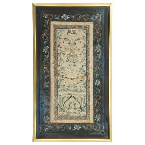 Chinese Silk Embroidery 1421 – Framed