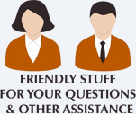 Staff is available for questions and to offer assistance.