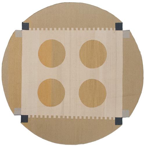 7x 7 Modern Kilim Style Round Rug