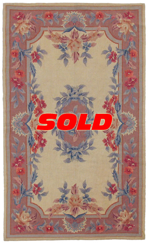 3x 5 Fine Needlepoint Rug – SOLD