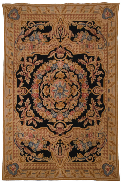 6x 9 Antique Wash Needlepoint Rug