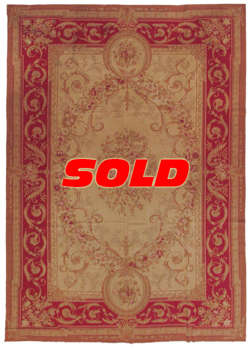 10×14 Fine Antique Design Needlepoint Rug