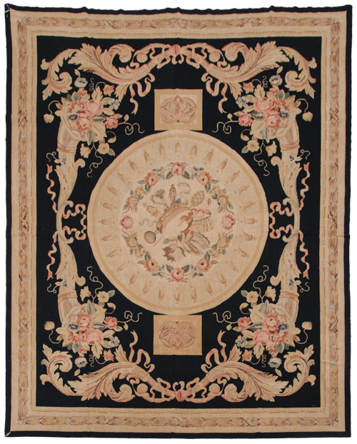 8×10 Fine Antique Design Needlepoint Rug