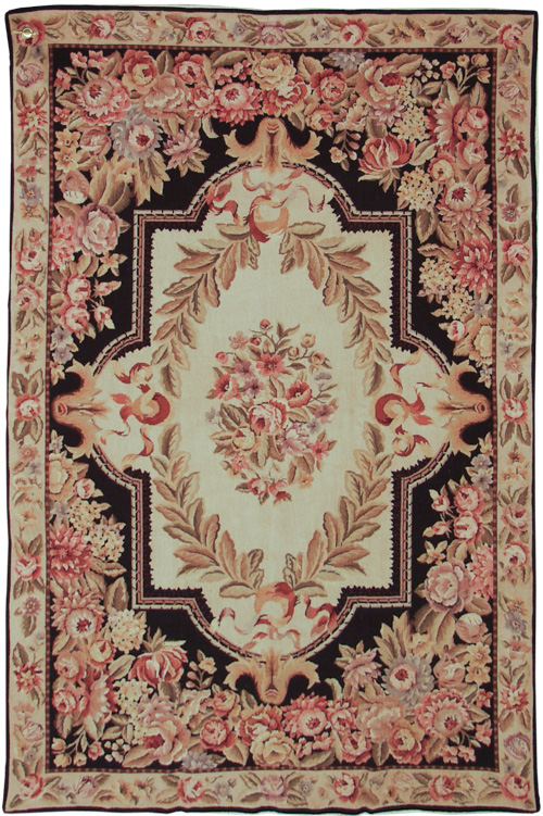 6x 9  Fine Antique Design Needlepoint Rug