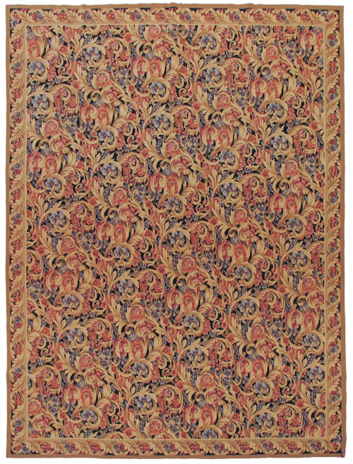 9×12 Aubusson Weave Rug