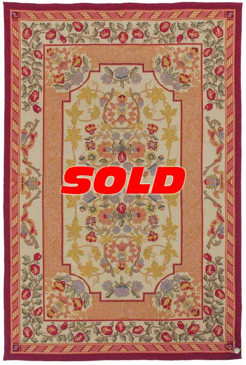 4x 6 Fine Needlepoint Design Rug – SOLD