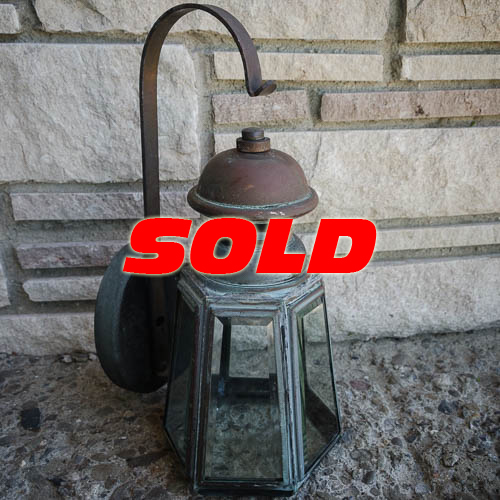 Copper Lantern Electric Sconce – SOLD