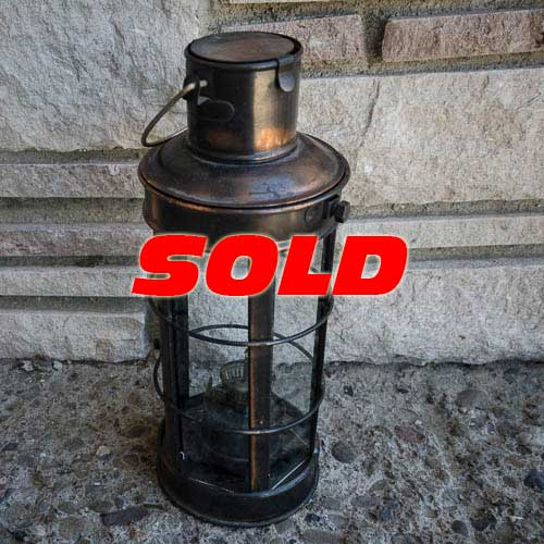 Copper Lantern Kerosene Oil Lamp – SOLD