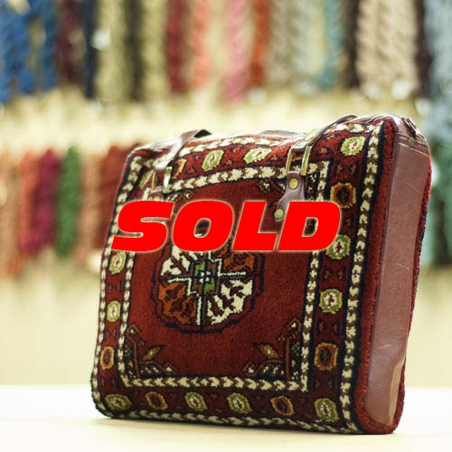 Bokhara Design Vintage Carpet Bag Purse