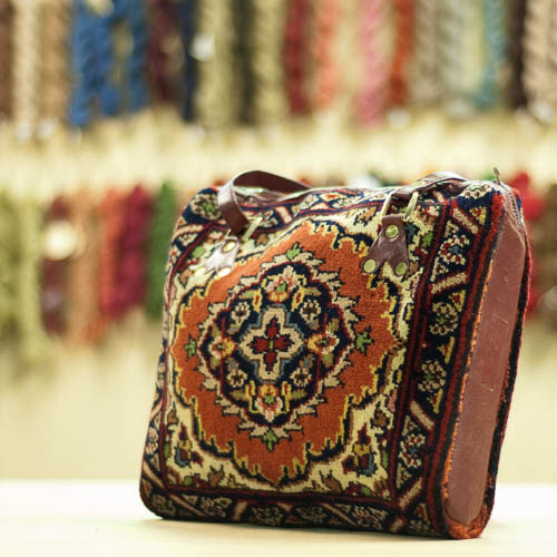 Tabriz Design Vintage Carpet Bag Purse